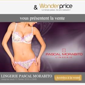Vente flash de lingerie Pascal Morabito